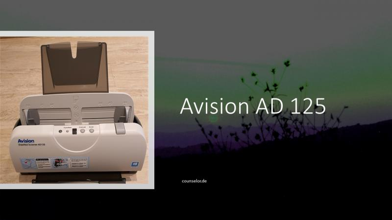 Avision AD 125 Scanner vom Steuerberater COUNSELOR