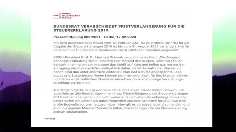 Pressemitteilung BStBK vom 170221