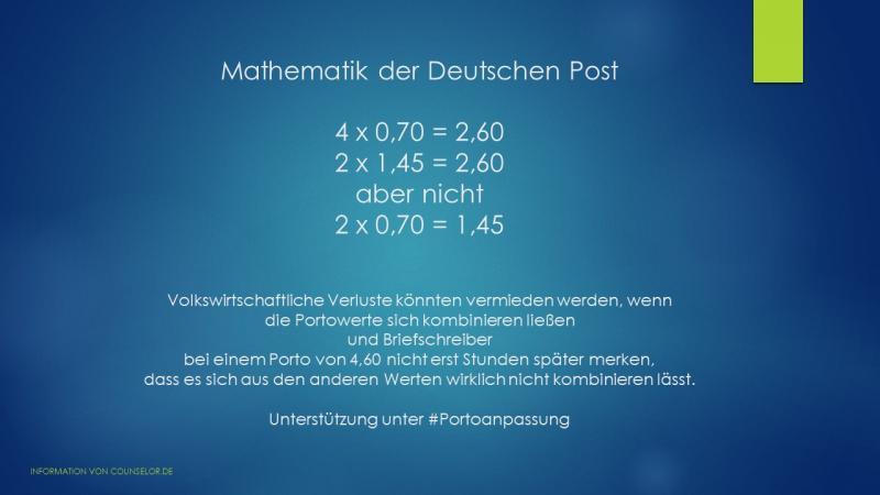Post Mathematik der dt. Post