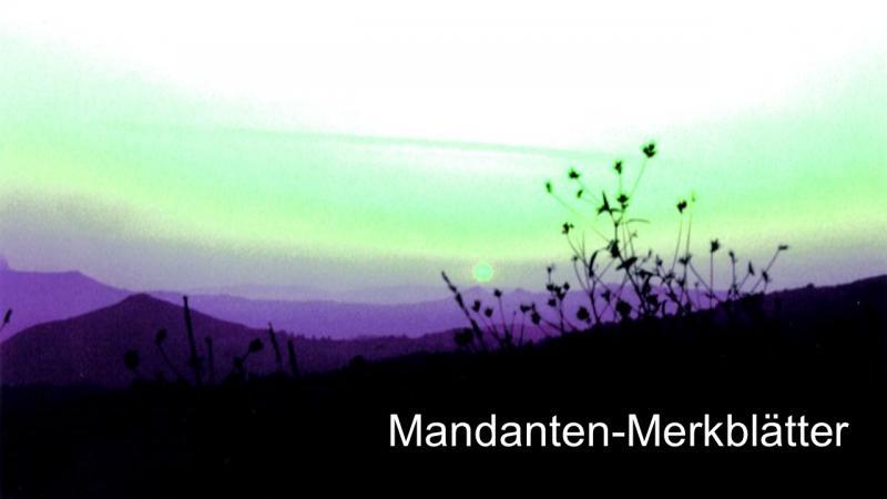 Mandanten-Merkblätter