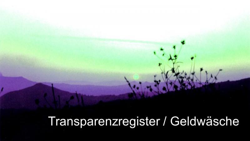 Transparenzregister Geldwäsche