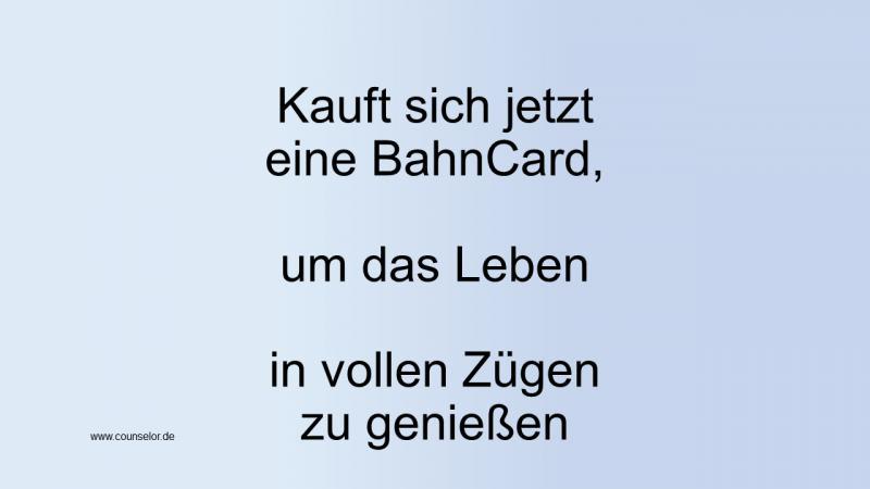 BahnCard kaufen - Steuern sparen