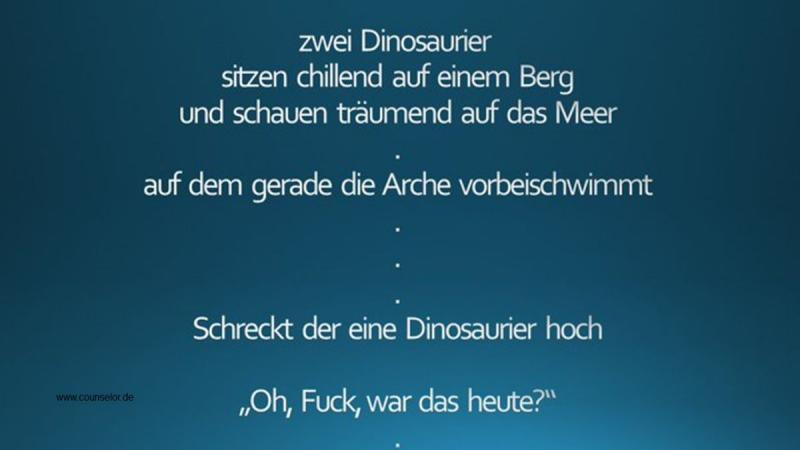 Dinosaurier - manchmal Steuerberater