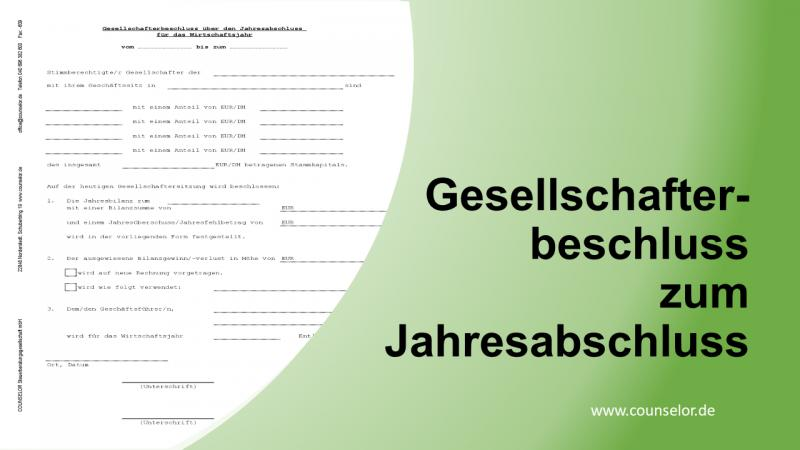 Gesellschafter-Versammlung GmbH etc