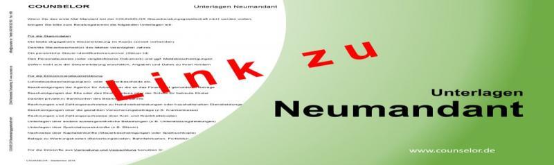 Unterlagen Neumandant (Liste)