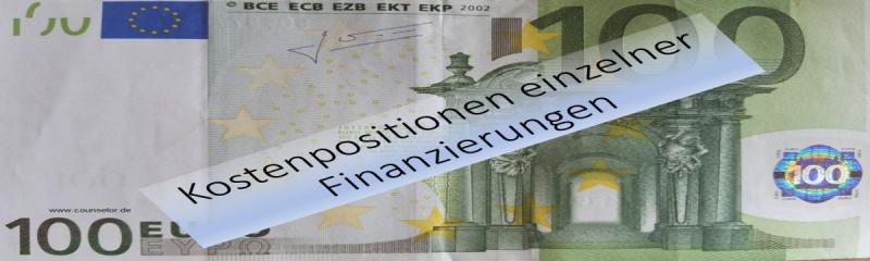 Kostenpositionen von Finanzierungen