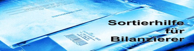 Sortierhilfe für Bilanz Buchhaltung
