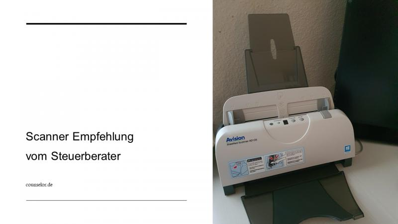 Scanner Empfehlung vom Steuerberater COUNSELOR
