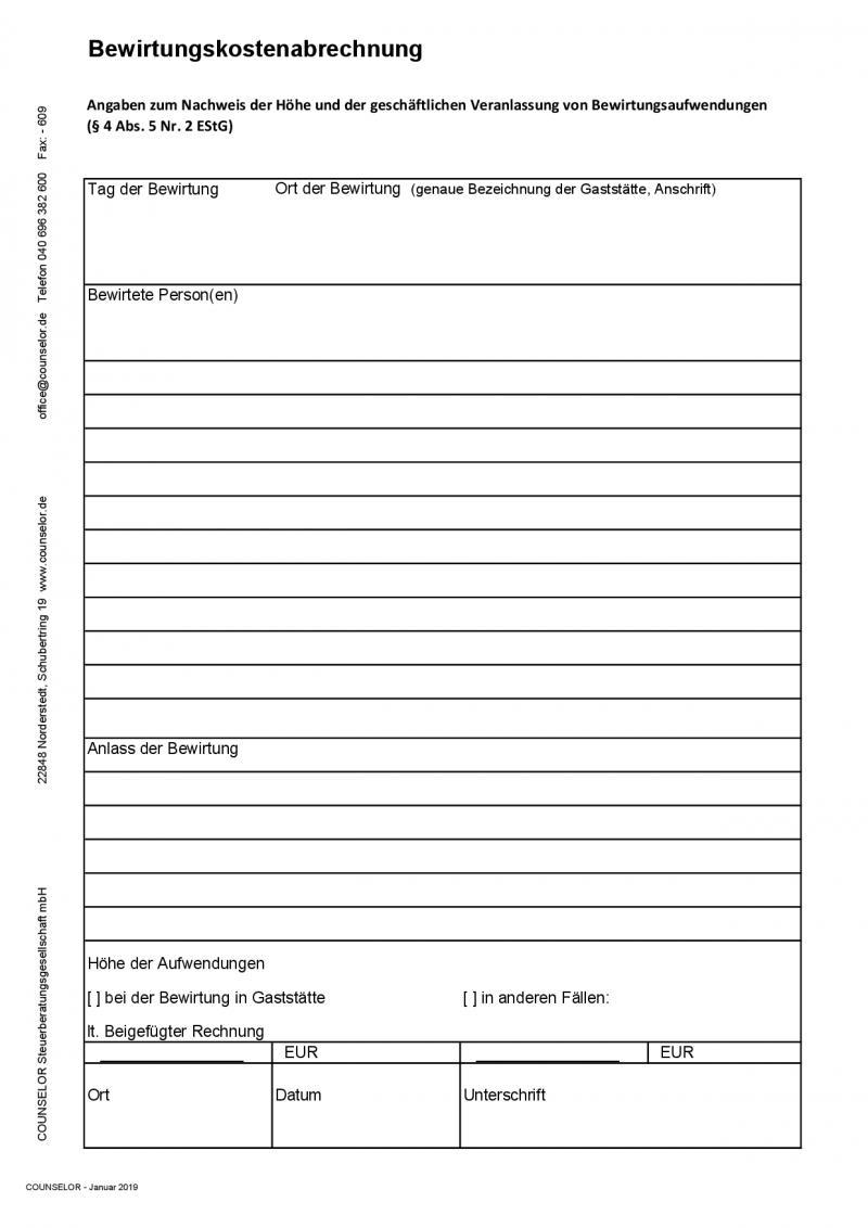 Bewirtungsbeleg Ausfullen Vorlagen Beispiele 11