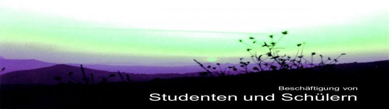 Beschäftigung Studenten und Schüler