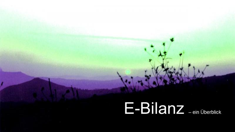 E-Bilanz ein Überblick