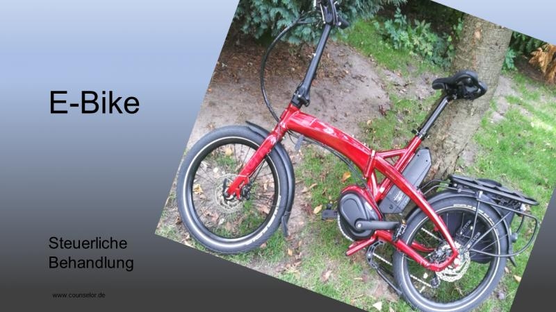 E-Bike Elektro Fahrrad rot