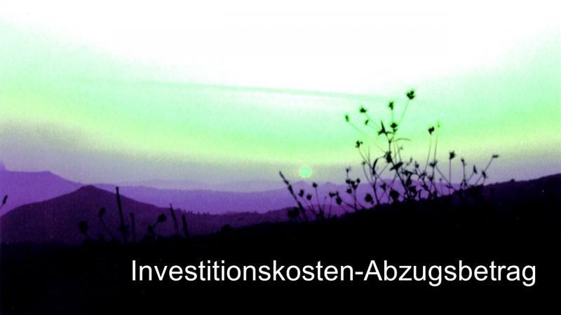 Steuerberatung für GmbH Bilanz Jahresabschluss 67 Investitionskosten-Abzugsbetrag